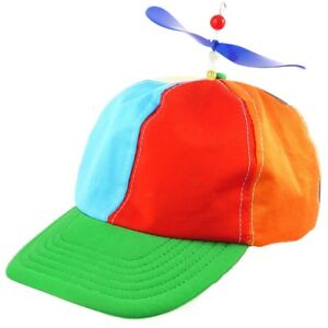 Helicopter Hat Clown Propeller Fancy Dress Party Accessory Prop