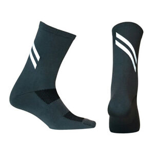 Pro Mens Womens Reflective Cycling Sports Ankle Socks Riding Bicycle Socks Grey