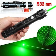 Us Stock 900Mile 532nm Green Laser Pointer Pen Visible Beam Lazer Light+Star Cap