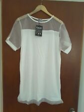 Daisy Street UK ladies beach cruise resort white dress sheer top size XL BNWT