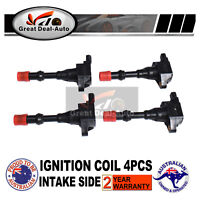 4pcs Ignition Coil Pack For Honda Jazz GD GE 1.3L Civic LDA1 Intake Side