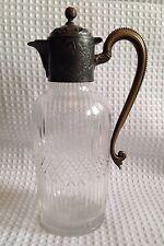 Antique Cut Crystal Claret Jug/pitcher With Metal Lid