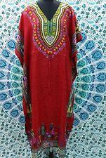 Hippy-African-Red-Kaftan-Dress-Casual-Wear-Beach-Cover-Up-Caftan-Evening wear