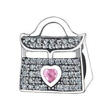 S925 Lady Handbag European Silver charm pendant bead For bracelet chain bangle