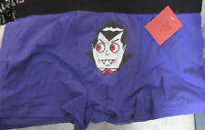 New  Mens Boxer Brief Shorts Size Medium Halloween Dracula