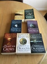 A Song of Ice and Fire. Game of Thrones 7 Book Set + Map of Westeros