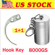 8000Gs Magnetic Eas Security Tag Tool & Hook Key Silver [Us in Stock]