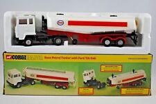 Old CORGI Major 1157 FORD Truck w/ TILT CAB & ESSO Petrol ROAD TANKER Made in UK