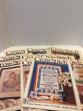 Cross Stitch Country Crafts Magazine Lot Of 14 Stockings Samplers 80's 90's