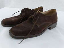 ANTICA CUOIERIA Shoemaker's Italy Brown Suede Leather Oxford Shoes 12 D -
