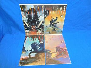 Aliens Genocide #1 2 3 4 HORROR SYFY Dark Horse Comic Book Set 1-4 Complete