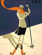Lo SPORT TURISMO ST Croix Svizzera sci alpino Inverno NEW art print poster cc4378
