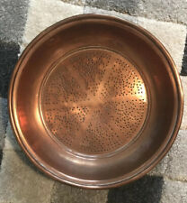 Large Antique French Copper Sieve ,Colander ,Strainer