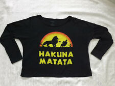 Disney The Lion King Hakuna Matata off the shoulder Shirt Women Black XS