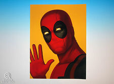 Deadpool Mondo Mike Mitchell Portrait Print Marvel Comics Sold Out Rare Proof