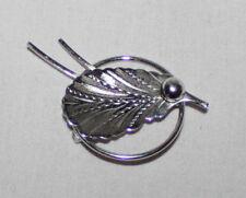 Vintage Bond Boyd Silver Leaf Brooch Signed