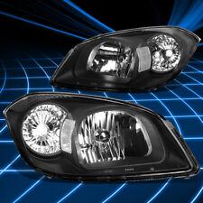 Fit 2005-2010 Chevy Cobalt G5 Black Housing Clear Lens Corner Signal Headlights