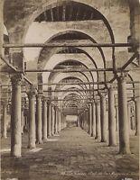 Mezquita Cairo Egipto Vintage Albúmina Foto Bonfils Aprox 1870