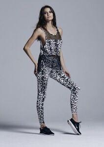 Varley Pacific  Leggings Black Leopard Print