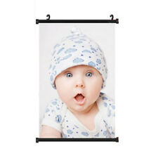 Mutil Sizes Personalized Custom Image Silk Art Poster Print Fabric Wall Decor With Black Scroll 30x45cm