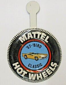 Hot Wheels redline '57 BIRD CLASSIC tin litho coin button THUNDERBIRD