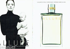 PUBLICITE ADVERTISING 016  1996  CHANEL  parfum femme ALLURE  (2p)