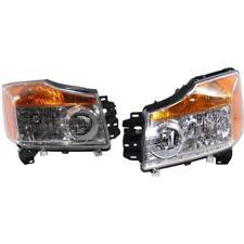 New NI2502168C, NI2503168C CAPA Headlight Set for Nissan Titan 2008-2015