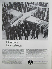 9/1972 PUB NORTH AMERICAN ROCKWELL US NAVY T-2 BUCKEYE / WESTINGHOUSE RADAR AD