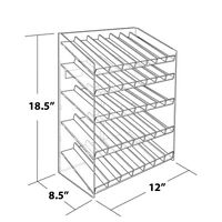 Retail 5-tiered 35 Compartment Cosmetic Counter Display for Pegboard or Slatwall