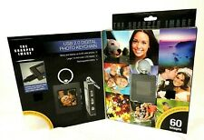 "Sharper Image Ultra Thin Design 1.5"" Digital Photo Keychain USB 2.0 Up to 60 Pic"