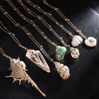 Shell Necklace Cowrie Beach Sea Pendant Choker Gold Chain Women Jewelry Fashion