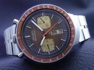 Vintage Seiko 6138-0040 Speedtimer Automatic Chronograph Watch-BULLHEAD