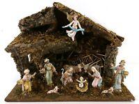 1960s 1970s (?) Italien Vintage Krippenspiel Stabil Holz Weihnachten