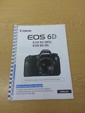 CANON  EOS 6D INSTRUCTION MANUAL USER GUIDE  PRINTED 144 PAGES A5