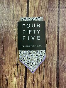 """Four Fifty Five White Floral Pocket Square - 13"""" x 12"""" - New"""