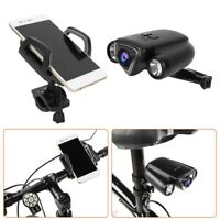 Bike Waterproof Camera Recorder Warning Light Kit Rear Light with Phone Holder