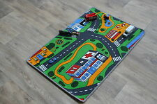 Kids Xmas Present Kids Bedroom Car Play Mat Rug 67cm x 94cm Roads Map Nursery