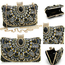 Evening Handbag Crystals Jewelry Dinner Party Wedding Clutches Shoulder Handbags