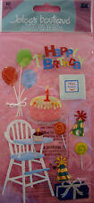 NEW 10 pc BIRTHDAY Happy 1st  Bday  High Chair Balloons Cake JOLEE'S 3D Stickers