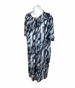 Damsel In A Dress Tunic Shift Dress Black Grey White Sz Large / XL Ladies