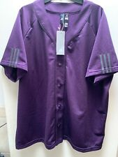 Adidas Men's Athletic Sports Baseball Jersey Ei6606 Legpur/Black Size 2Xl
