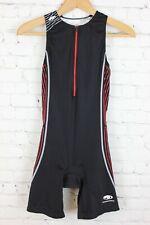 BlueSeventy Womens Tri Suit Triathlon Skin Suit Sleeveless Black Red Size M