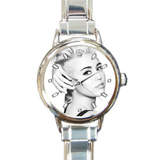 Beautiful Miley Cyrus Watch Italian Charm Watch Bracelet Great Gift for Fans!