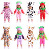 """Hot Handmade Accessories 18"""" Inch American Girl Doll Clothes Pajamas+hat set #2"""