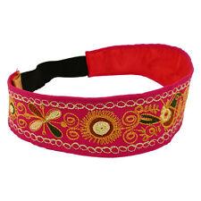 #3773 Cotton Embroidered Headbands Pack of 6 Wholesale Asstd Lot Peru Fair Trade