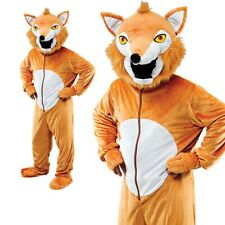 Fox Big Head Costume Deluxe Animal Mascot Fancy Dress Outfit Jumpsuit New Adults