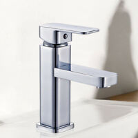 Single Handle For Bathroom Sink Mixer Tap Chrome Finish Bathroom Faucets Deck