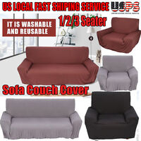 1 2 3 Seater Elastic Sofa Cover Slipcover Set Couch Stretch Arm Chair Loveseat