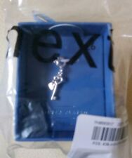 NEXT Silver Plated Clip On Key Charm with Rose Coloured Heart Brand New in Box