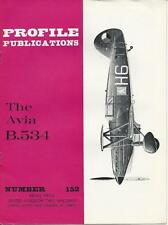 PROFILE PUBLICATIONS #152 THE AVIA B.534 WWII  MILITARY AIRPLANE PLANE